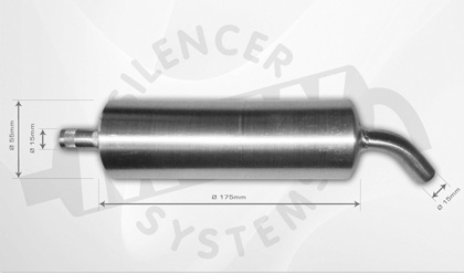 new 4-stroke silencer 40-60ccm by MTW